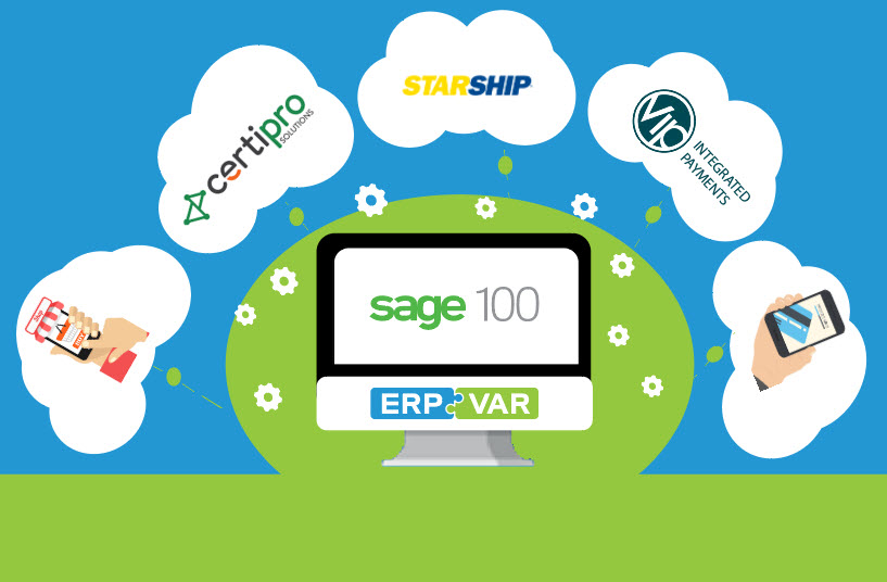 Sage 100 credit card processing ecommerce shipping